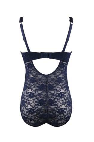 Pour Moi Navy Rebel Lace Body