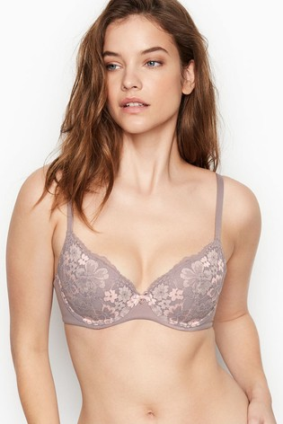 Victoria's Secret Lightly Lined Shimmer Lace Demi Bra