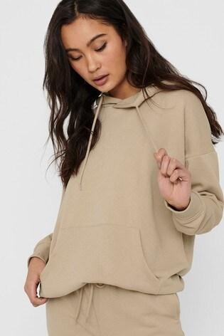 Only Cream Hooded Sweatshirt