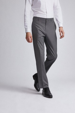 Burton Charcoal Tailored Fit End On End Suit Trousers