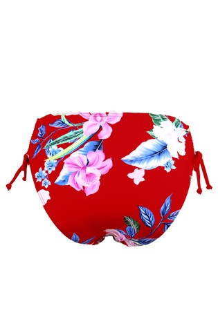 Pour Moi Red Floral Miami Brights Adjustable Brief