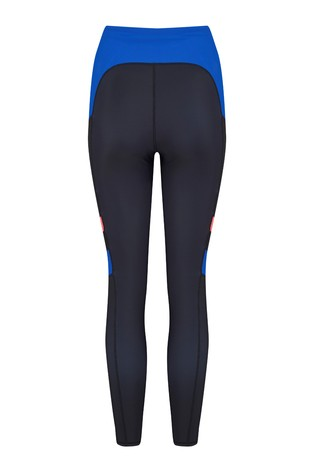 Pour Moi Black and Blue Energy Colour Block Sports Legging