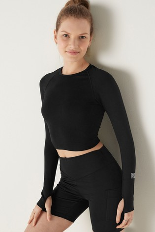 Victoria's Secret PINK Seamless Workout Cropped Breathable Top