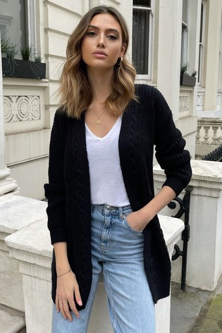 Lipsy Black Cable Cardigan