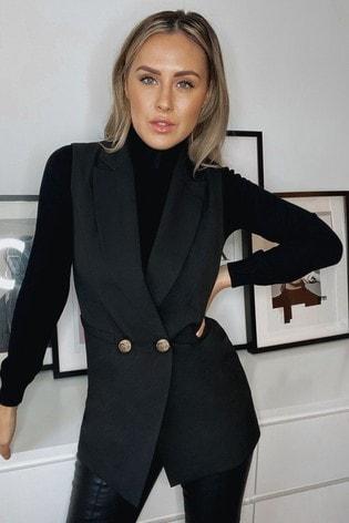 Lipsy Black Sleeveless Blazer