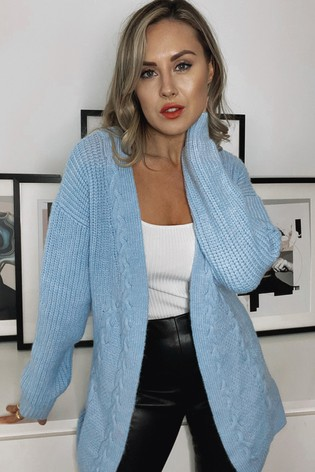 Lipsy Baby Blue Cable Cardigan
