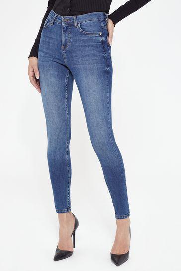 Lipsy Mid Blue Regular Mid Rise Skinny Kate Jean
