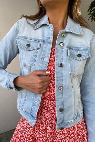 Lipsy Pale Blue Classic Denim Jacket
