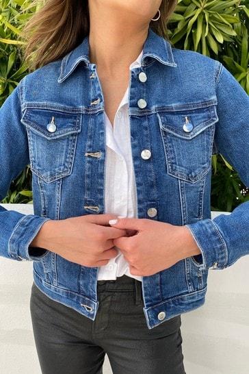 Lipsy Mid Blue Classic Denim Jacket