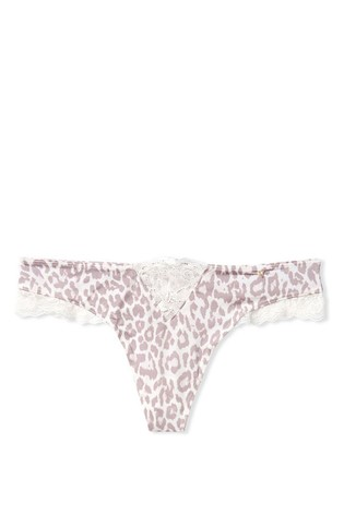 Victoria's Secret Micro Lace Inset Thong Panty