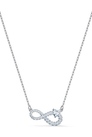 Swarovski Silver Infinity Necklace