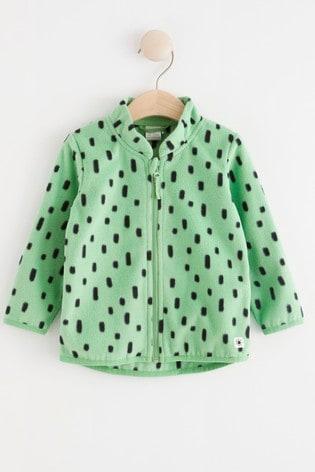 Lindex Green Baby Fleece Lined Jacket