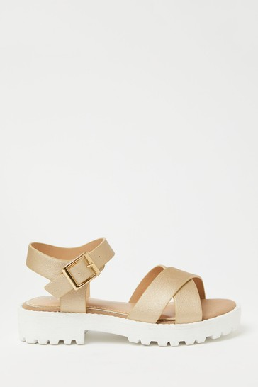 Lipsy Gold Chunky Sandal (Older)