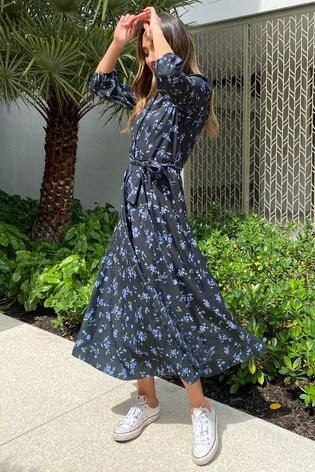 Lipsy Ditsy Floral Regular Maxi Shirt Dress
