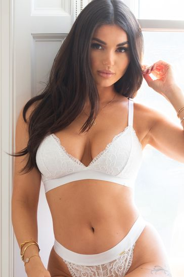 Pour Moi White India Removable Padded Soft Triangle Bra