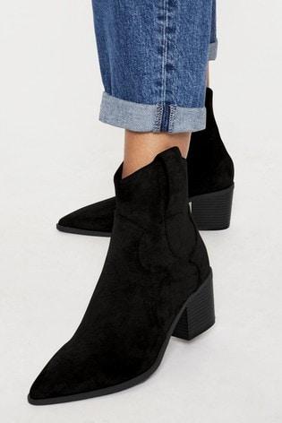 Lipsy Black Western Low Boot