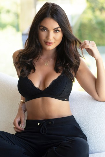 Pour Moi Black India Removable Padded Soft Triangle Bra