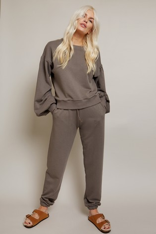 Little Mistress Grey Jogger Loungewear