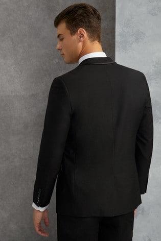 Skopes Black Ronson Satin Edge Lapel Tuxedo Jacket