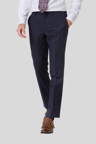 Charles Tyrwhitt Navy Slim Fit Twill Business Suit Trouser