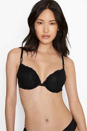 Victoria's Secret Lace & Sheer Mesh Push Up Bra