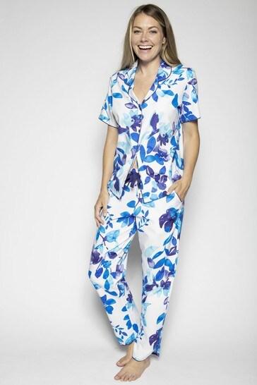 Cyberjammies Blue Floral Printed Top And Pant
