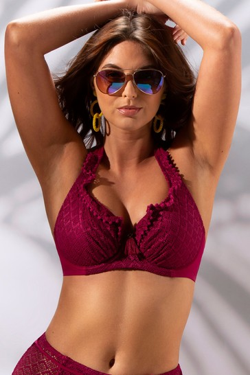Pour Moi Red Castaway Halter Underwired Top