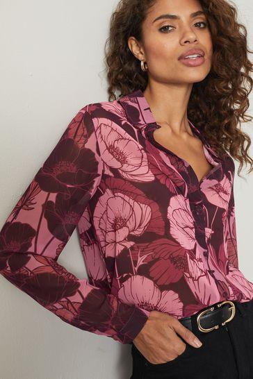 Lipsy Berry Floral Regular Printed Shirt