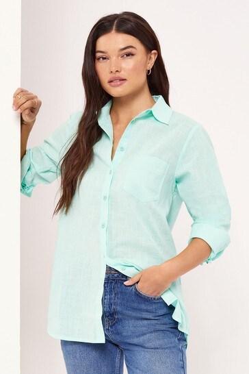 Lipsy Green Regular Oversized Shirt