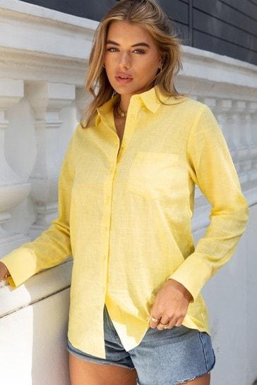 Lipsy Yellow Regular Oversized Shirt
