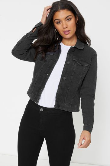 Noisy May Black Fitted Denim Jacket