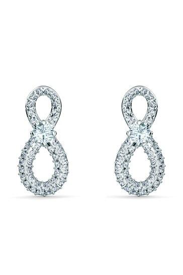 Swarovski Silver Infinity Mini Pierced Earrings