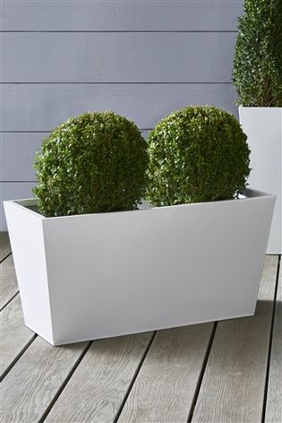 Zinc Garden Trough Planter