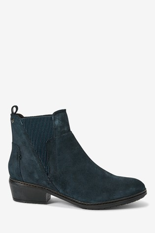 Navy Forever Comfort® Ribbed Elastic Chelsea Boots
