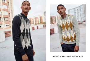 Argyle Knitted Polos