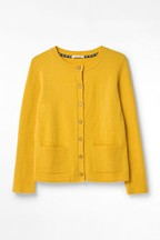 White Stuff Yellow Cafe Button Cardigan