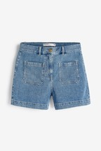Pocket Detail Denim Shorts