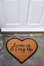 Cosy Up Heart Shaped Doormat