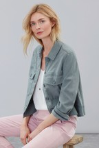 Joules Green Bobbie Dipped Hem Swing Jacket