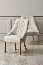 Set Of 2 Winchester II Dining Chairs With Washed Legs