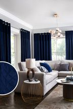 Velvet Quilted Hamilton Top Panel Curtains