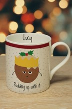 Personalised Pudding Up With It Mug by Signature PG