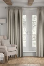 Made To Measure Light Natural Bouclé Curtains