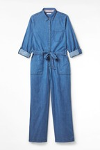White Stuff Blue Forecast Denim Boilersuit