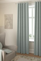 Made To Measure Teal Bouclé Curtains