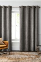 Chenille French Grey Made To Measure Curtains
