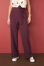Belted Utility Wide Trousers