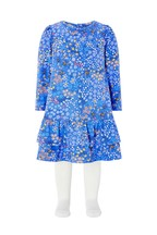 Monsoon Children Blue Baby Lois Jersey Dress And Tights