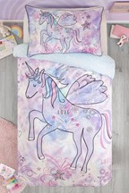 Doodle Unicorn Duvet Cover and Pillowcase Set