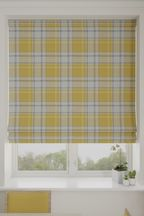 Marlow Woven Check Made To Measure Roman Blind